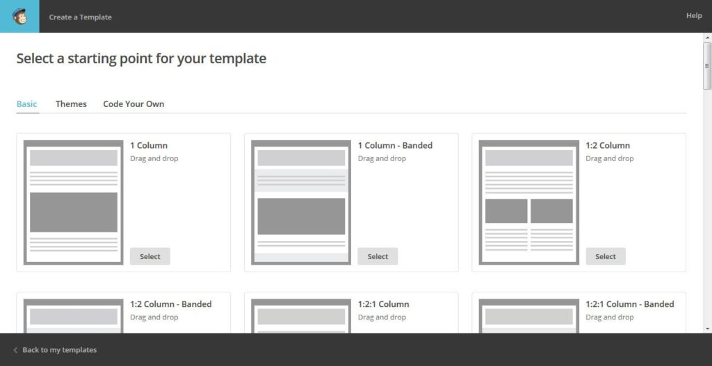 Create MailChimp Template