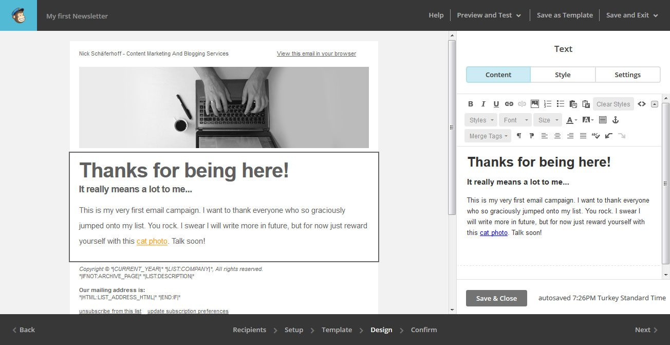 The Beginners Guide To Using MailChimp For Email Marketing - Mailchimp template tags