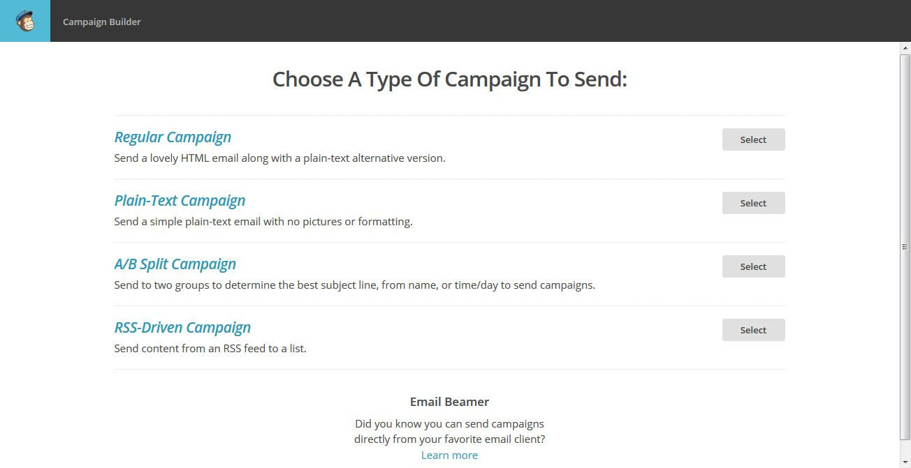 The beginner 39 s guide to using mailchimp for email marketing for Mailchimp create template from campaign