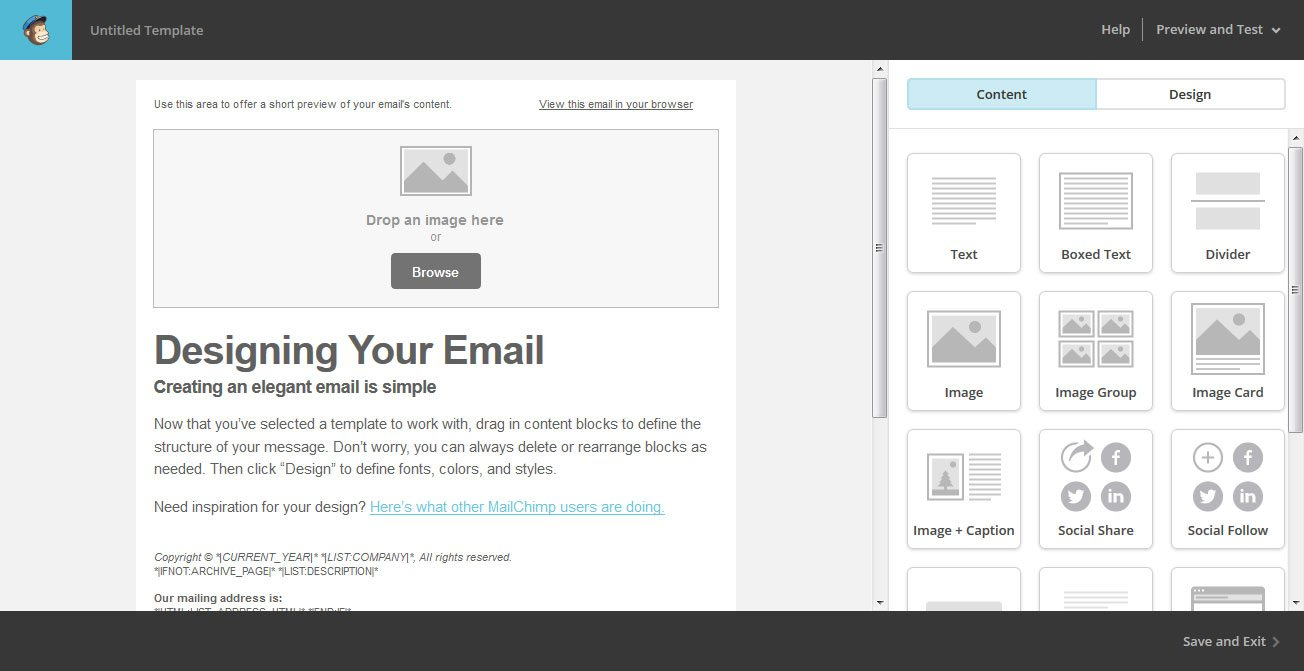 The beginner 39 s guide to using mailchimp for email marketing for Mailchim templates