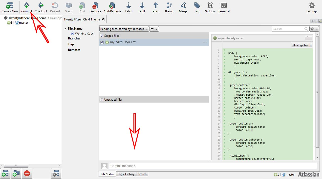 how to use git on excel file