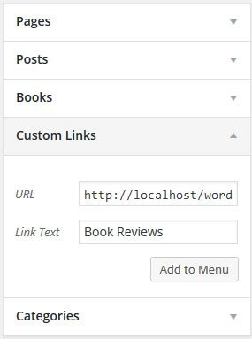 Add custom post type to menu