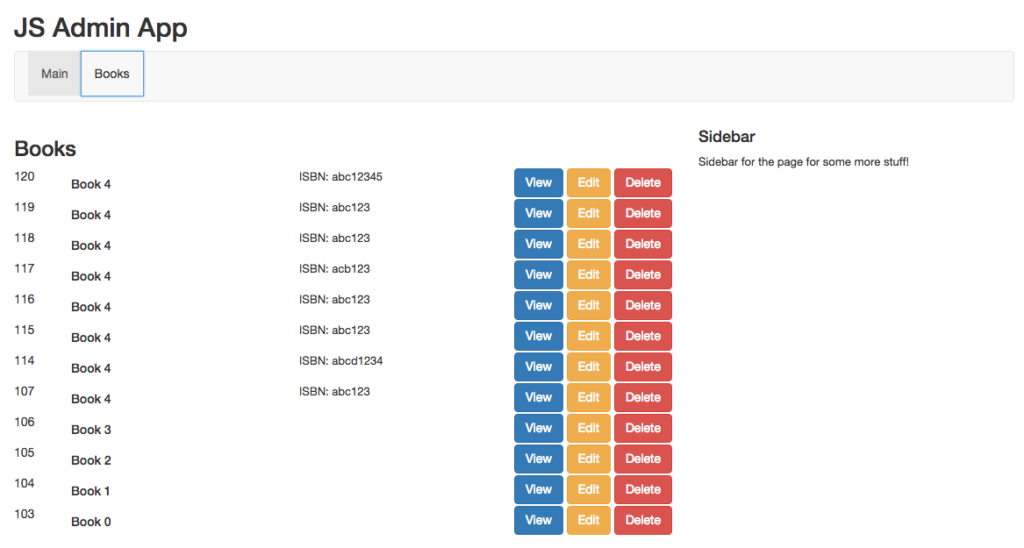 Admin JS App Screenshot1