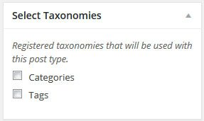 Select Taxonomies