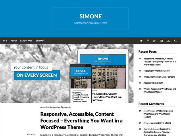 Simone web accessibility-ready-WordPress theme