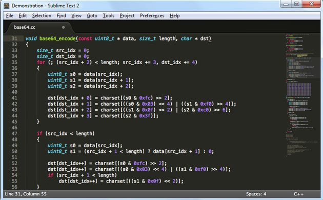 sublime text code editor