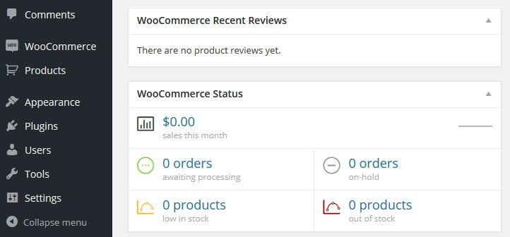 woocommerce-dashboard-widgets-and-menu-items