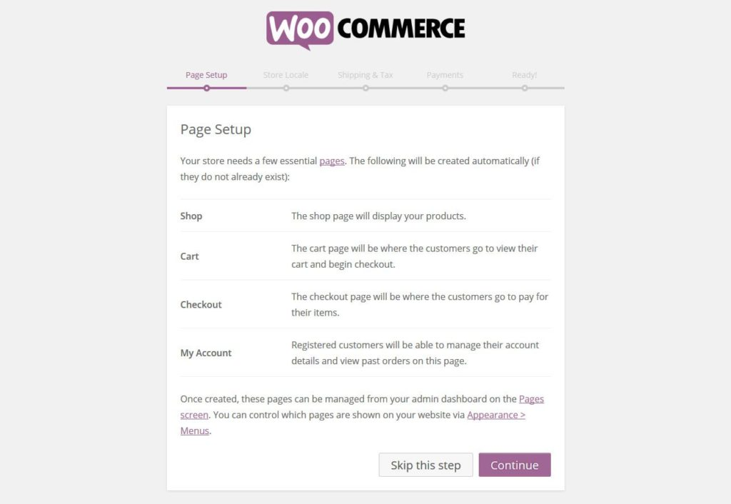 woocommerce-installation-create-pages