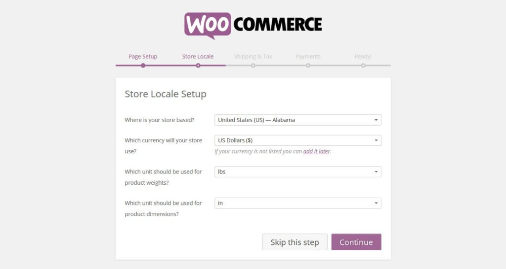 woocommerce-setup-configure-shop-locale
