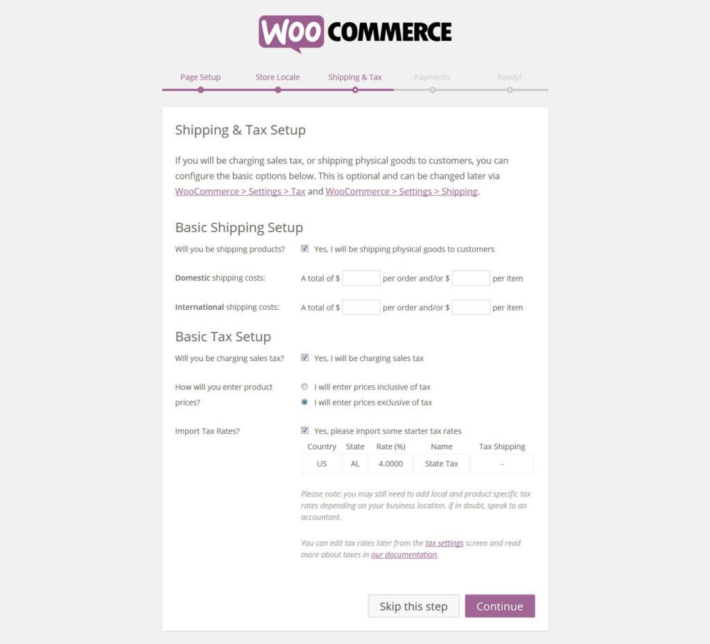 woocommerce-setup-shipping-and-taxes