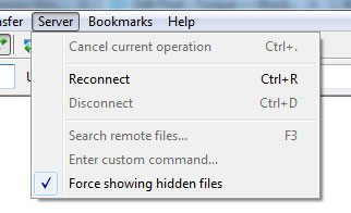 force showing hidden files