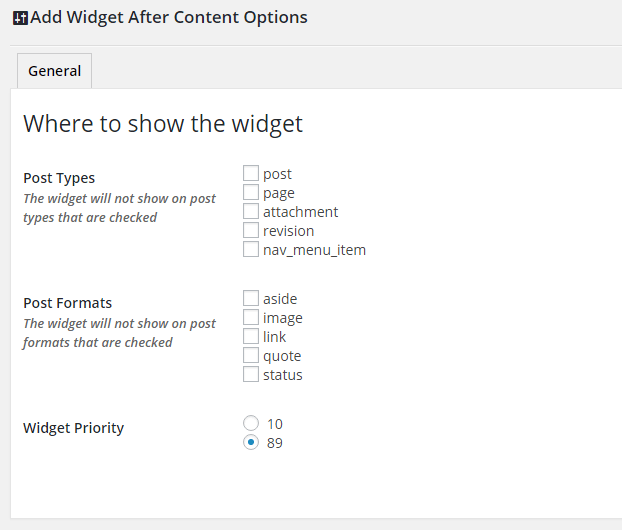 add-widget-after-content wordpress plugins