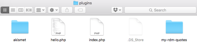 Installing our boilerplate plugin.