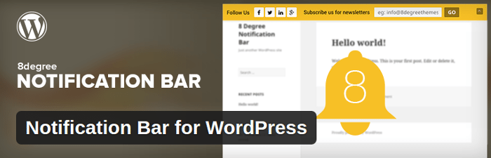Notification Bar Plugins for WordPress