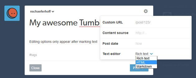use html in tumblr