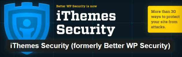 The iThemes Security plugin.