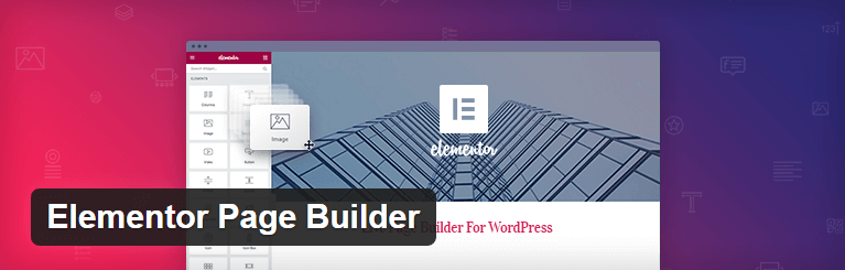 The Elementor Page Builder plugin.