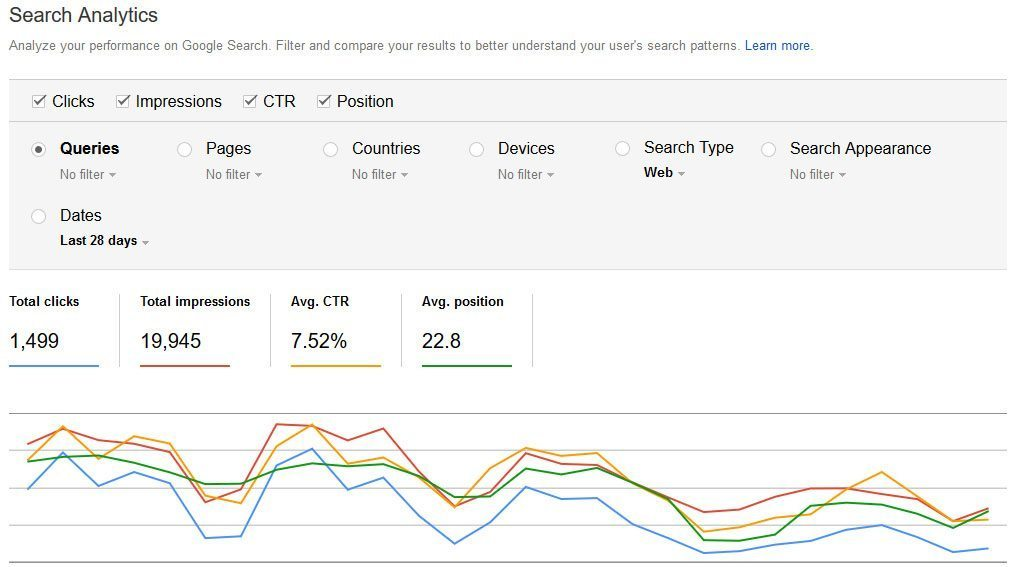 google search console guide search analytics
