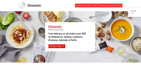 wordpress ecommerce example dineamic