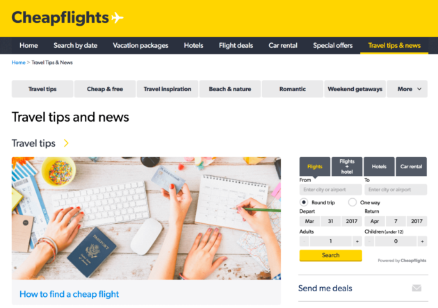 Cheapflights News