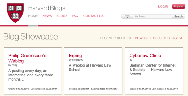 Harvard Blogs