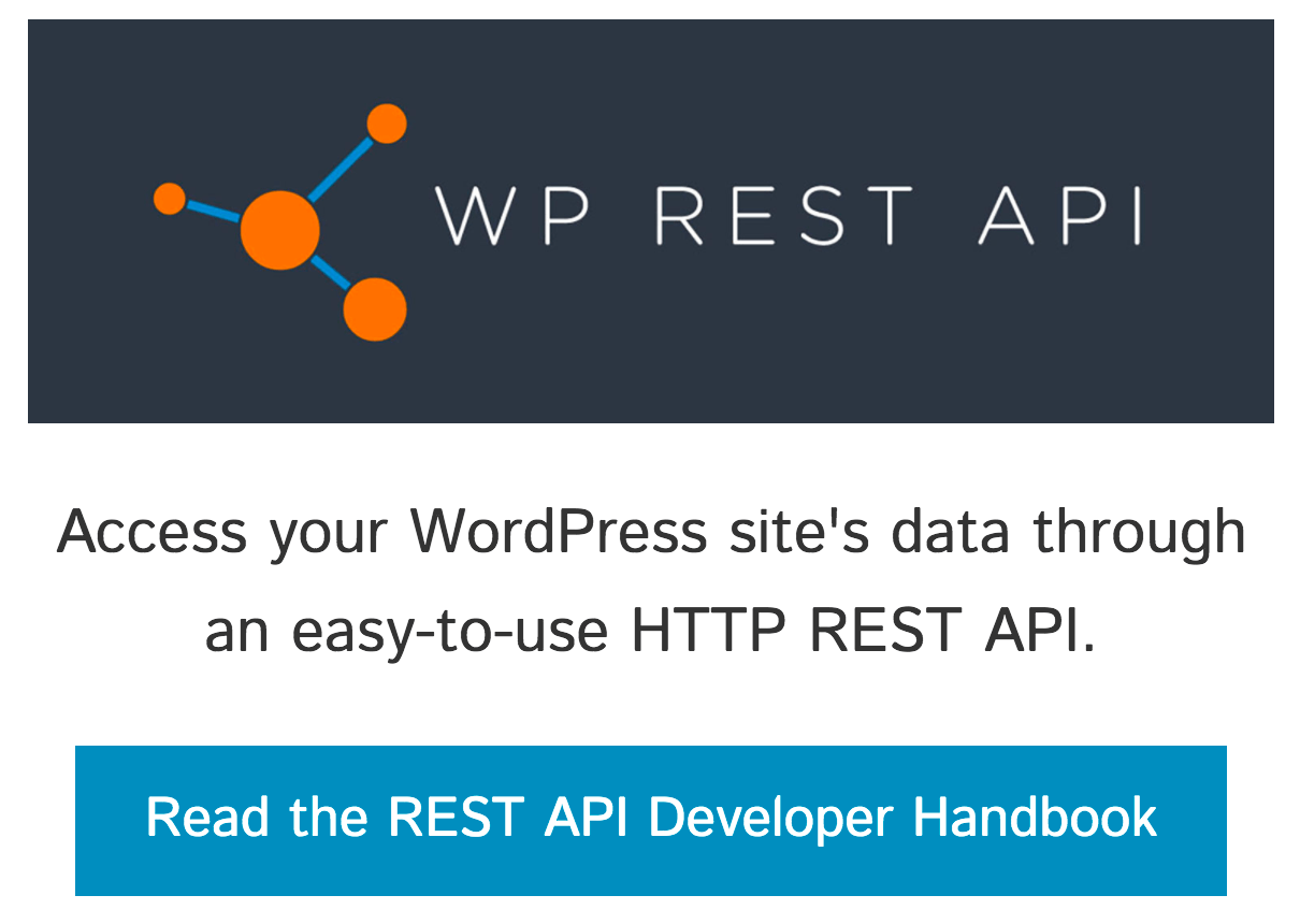 The REST API home page.
