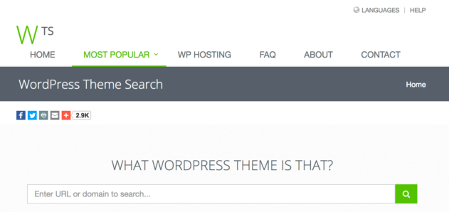 Screenshot of What WordPress Theme Is That?