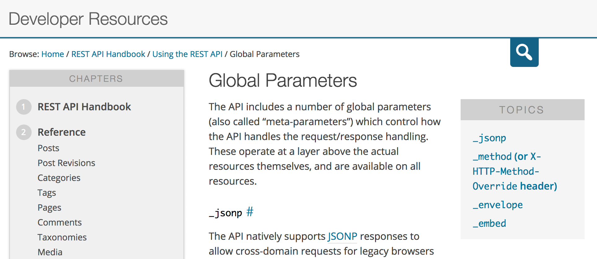 Preview of the REST API documentation