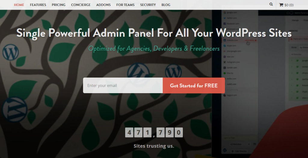 manage multiple wordpress sites InfiniteWP