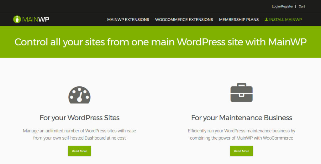 manage multiple wordpress sites MainWP
