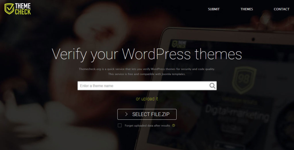 use theme check to ensure wordpress theme safety