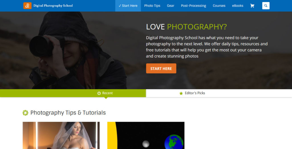 digital photography school an example of australian enterprise site built with wordpres