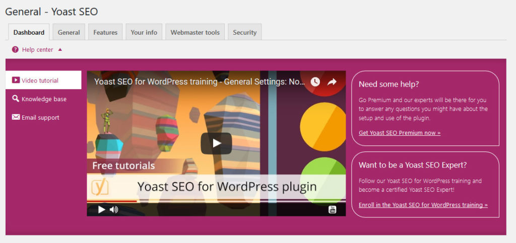 how to use yoast seo help section