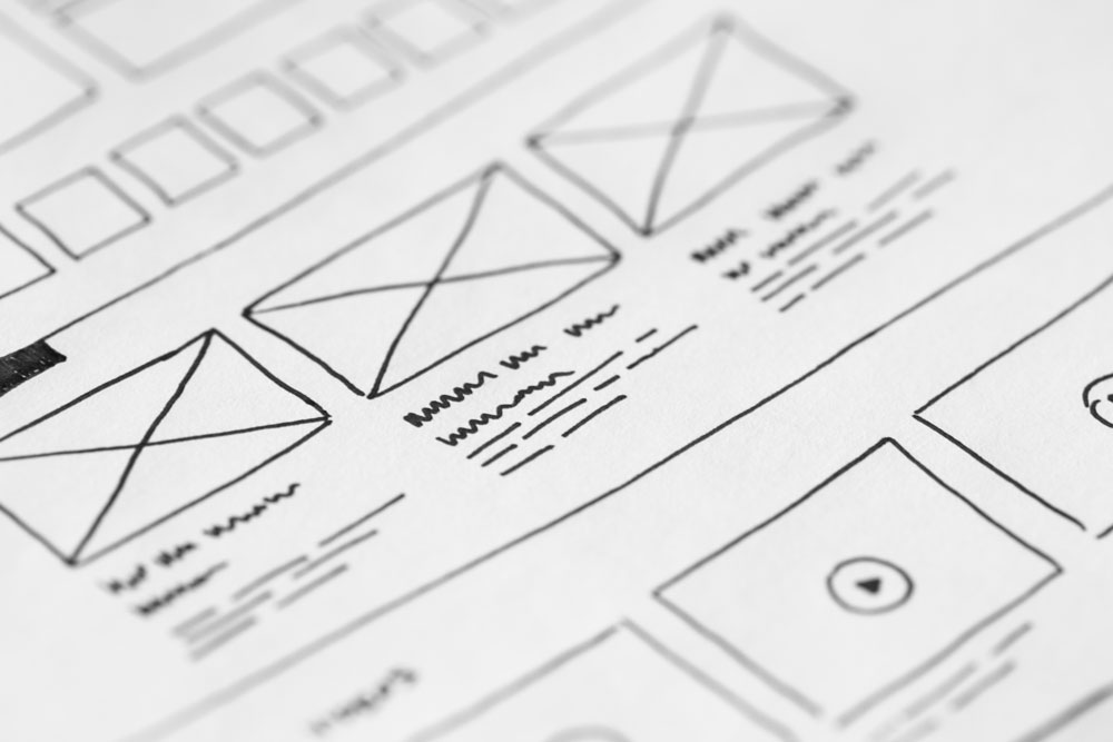 web designer vs web developer wireframes