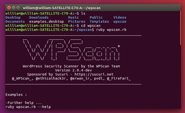 Securing WordPress with WPScan