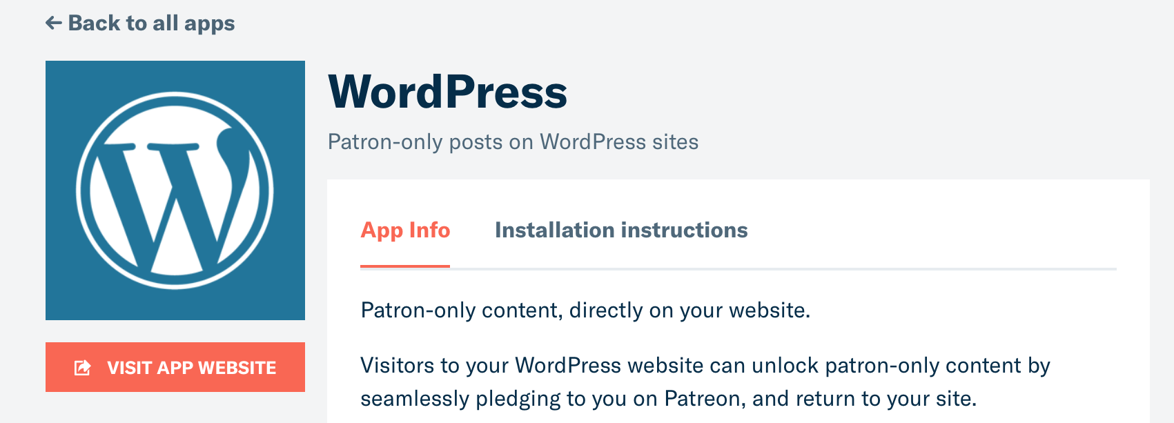 The Patreon WordPress plugin.