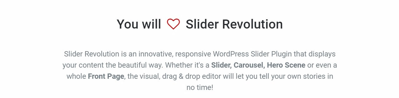 The Slider Revolution plugin