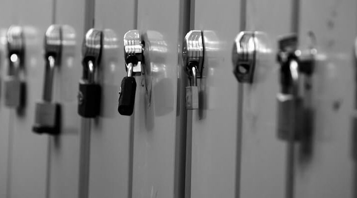 A row of lockers.