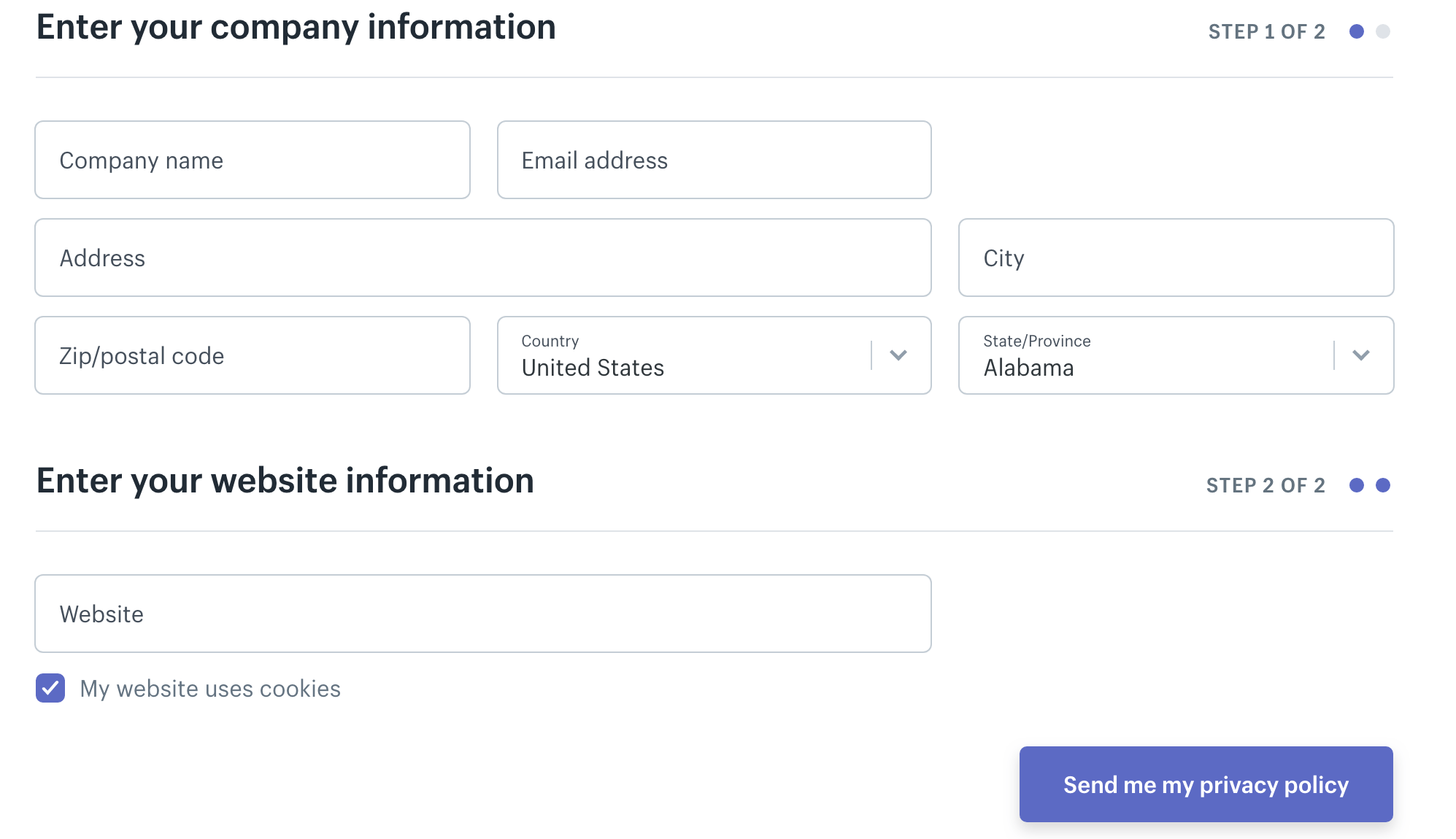 The Shopify Privacy Policy Generator.