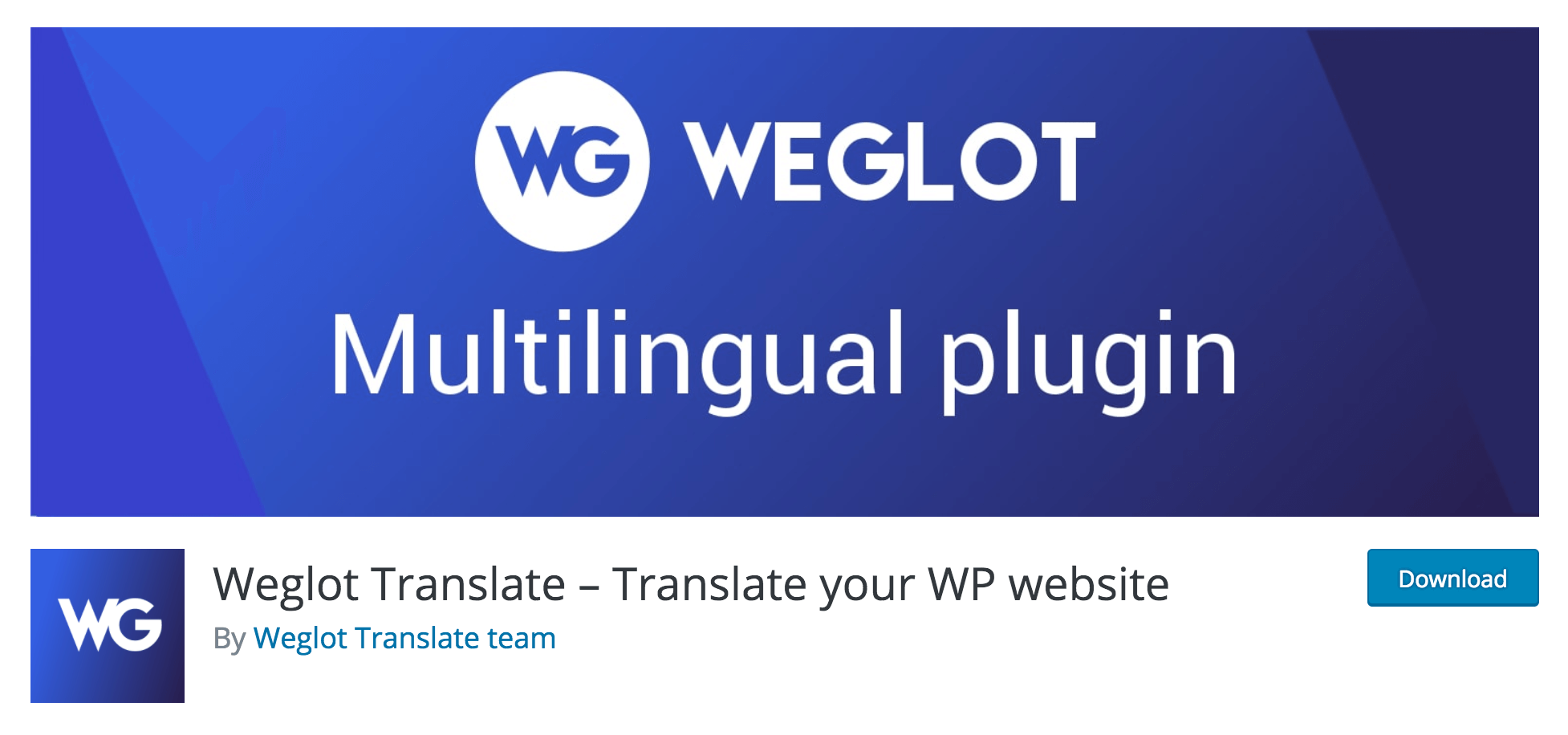 The Weglot Translate plugin.