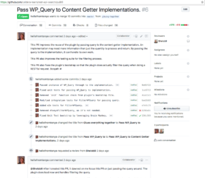 Github pull request showing results of continuous integration
