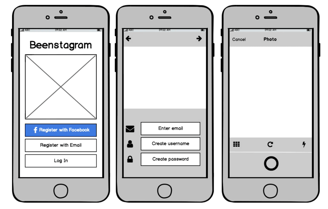 An example of Balsamiq Cloud's wireframing.