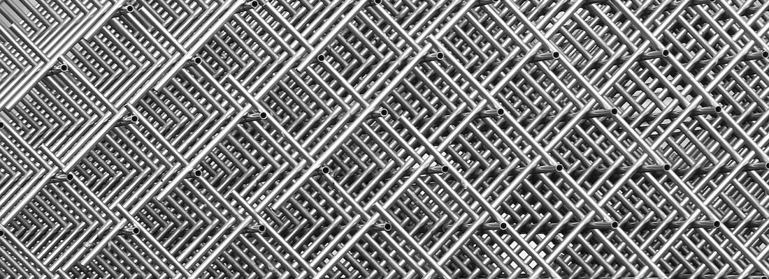A collection of fences, showing a grid.