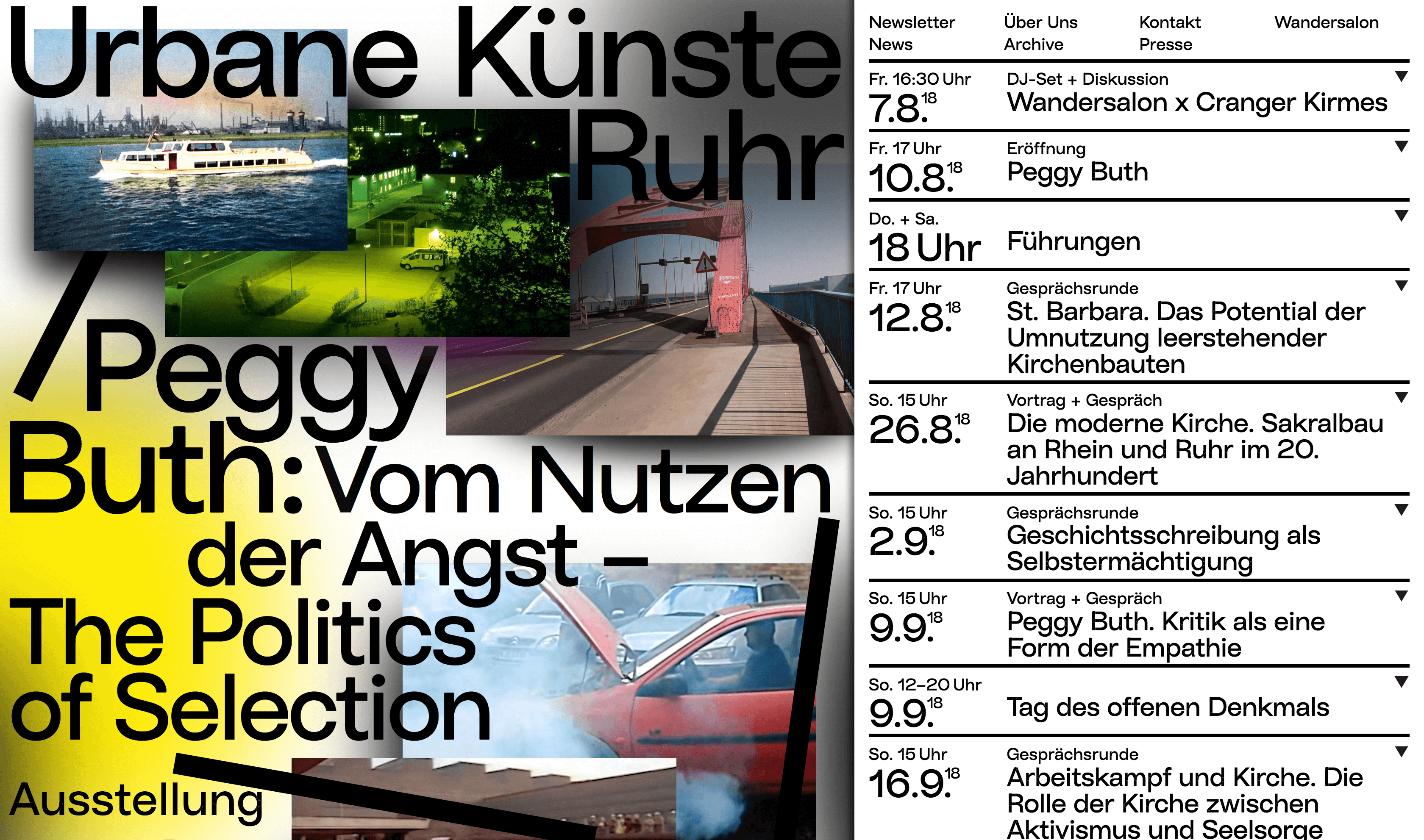 The Ubane Kuenste Rhur website.