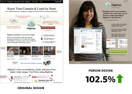 use people in website visuals