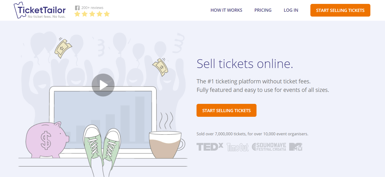 The TicketTailor website.
