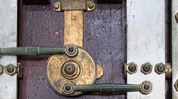 A door with multiple locks.