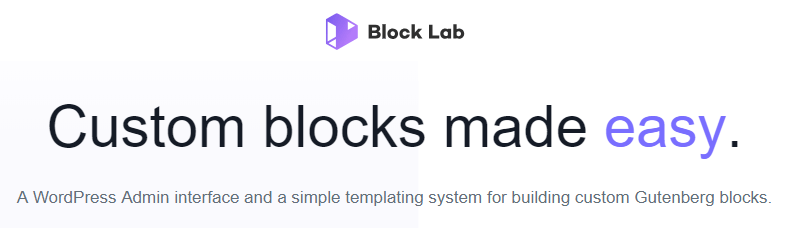 The Block Lab plugin