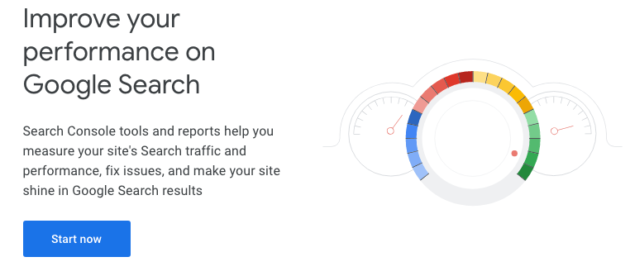 The Google Search Console About page.