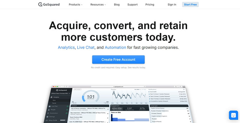 gosquared is a google analytics alternative